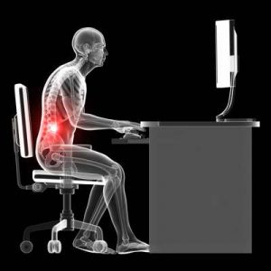 Lower back pain working at computer