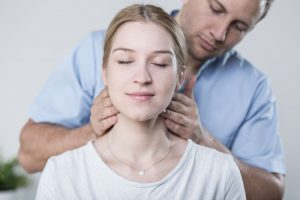 Neck muscle assessment and treatment by an expert