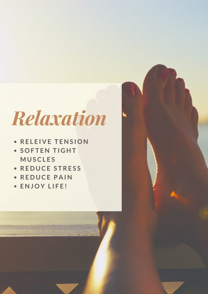 Relax the tight and tense muscles