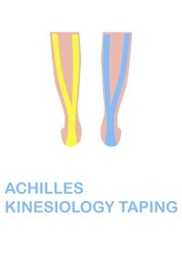 Taping the achilles tendon