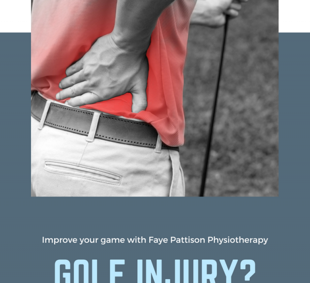 Golf injury struggling with back image