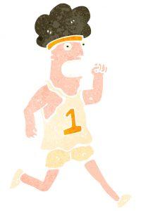 London marathon cartoon runner