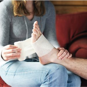 London Marathon foot pain taping